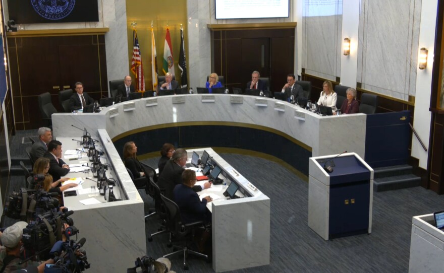 San Diego County Board of Supervisors in chamber on Feb. 19, 2020.