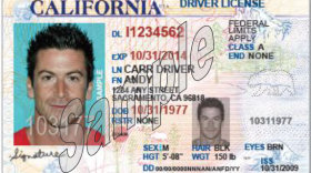 Sample of new California driver license for applicants who cannot prove legal immigration status.