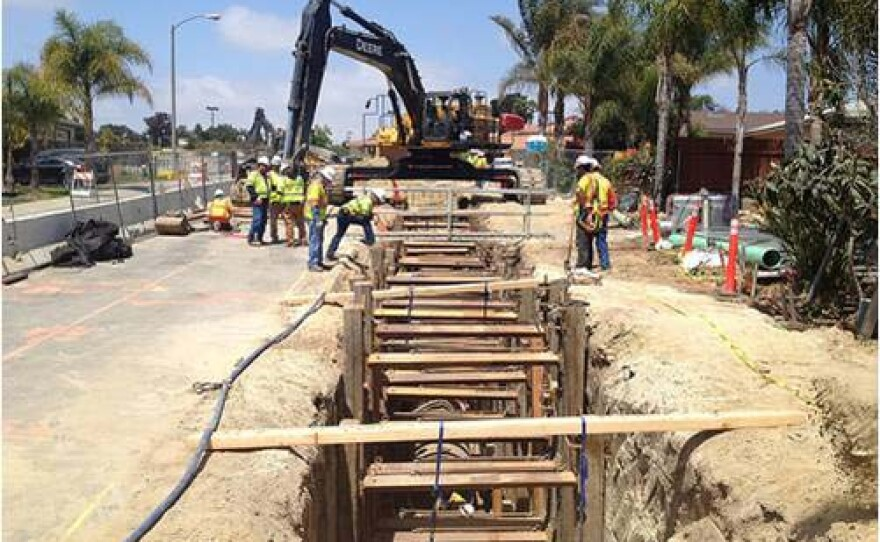 File photo of pipeline construction in San Marcos