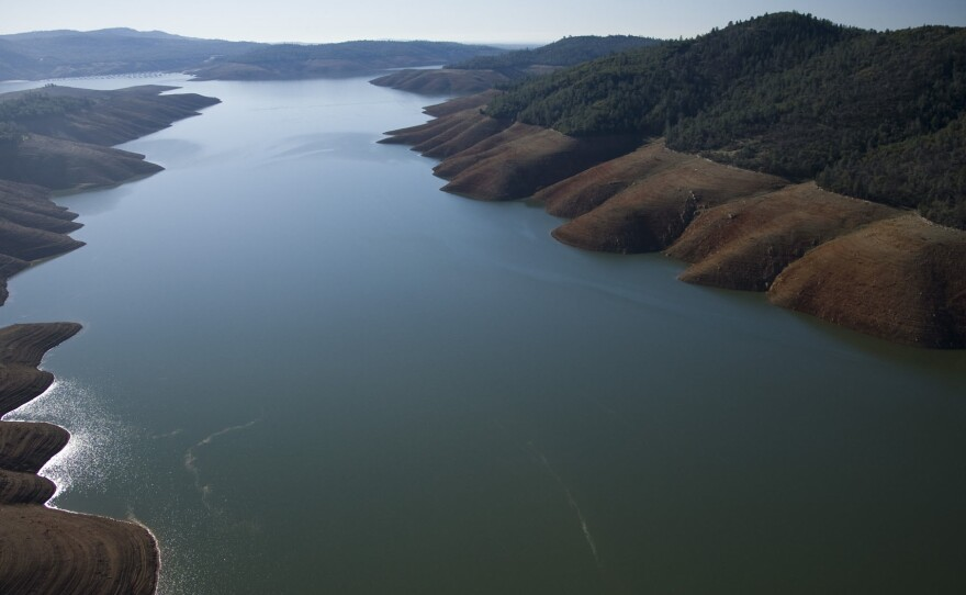 Lake Oroville, one of Northern California's largest reservoirs is just 36 percent of capacity as of February 2, 2014.
