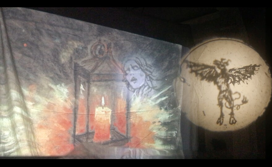 """Melissa Ferrari's """"Relict: A Phantasmagoria"""" is one of the performances pieces showcased at San Diego Underground Film Festival. It offers a """"nonfiction magic lantern phantasmagoria examining the intersections of cryptozoology, pseudoscience, and religion."""""""