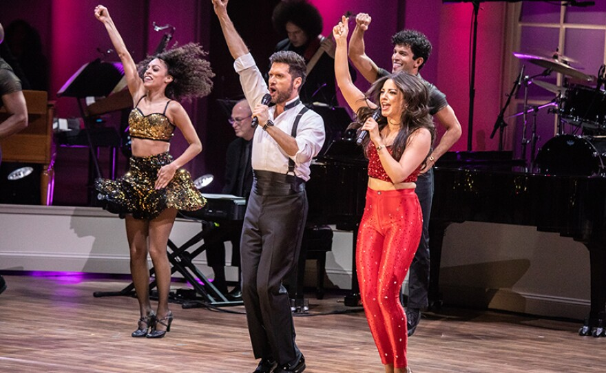 """The cast of the musical """"On Your Feet!"""" performs at """"Emilio & Gloria Estefan: The Library of Congress Gershwin Prize for Popular Song,"""" March 13, 2019, DAR Constitution Hall in Washington, D.C. The program premieres May 3, 2019 on PBS."""