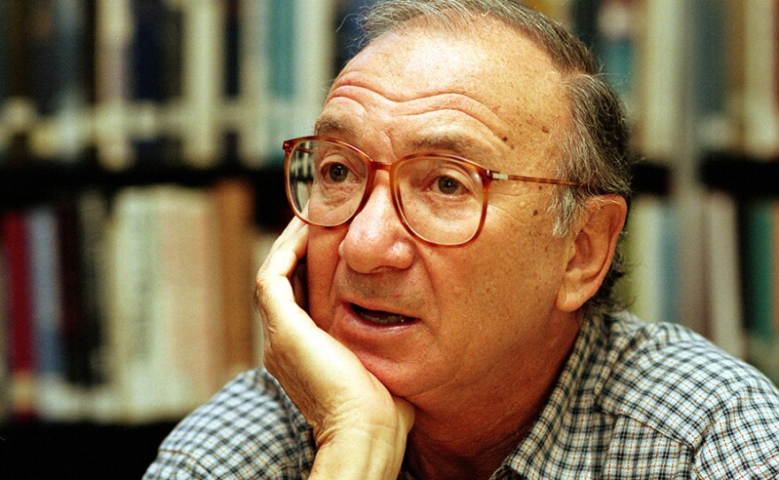 American playwright Neil Simon answers questions during an interview in Seattle, Wa., September 22, 1994.