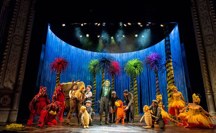 """A photo of """"Dr. Seuss's The Lorax"""" at The Old Vic, 2015."""