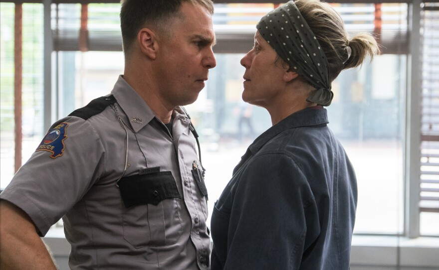 """Sam Rockwell and Frances McDormand squared off onscreen in """"Three Billboards Outside Ebbing, Missouri"""" and both are up for acting Oscars at the 90th Academy Awards."""