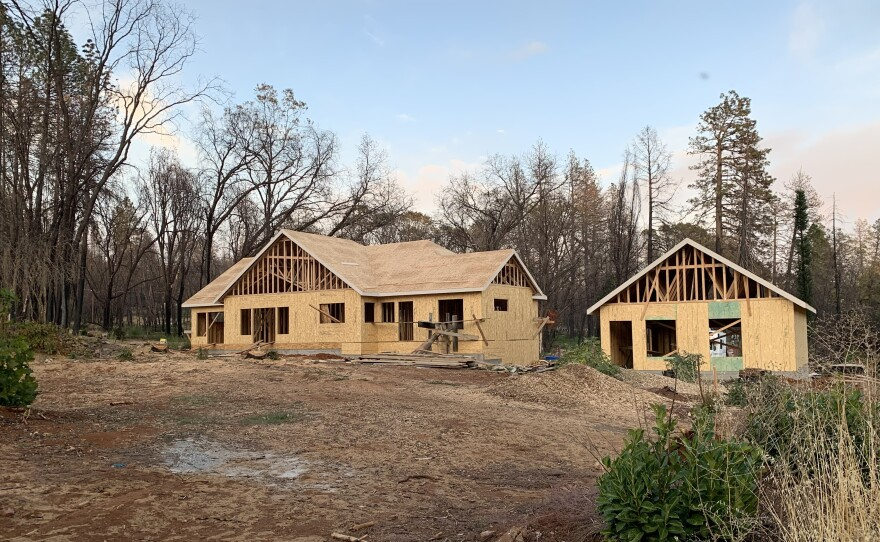 A new home under construction in Paradise, Calif.