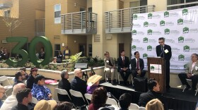 Developers, politicians and residents from North Park Senior Apartments held an opening celebration for the 75 new affordable apartments, April 27, 2018.