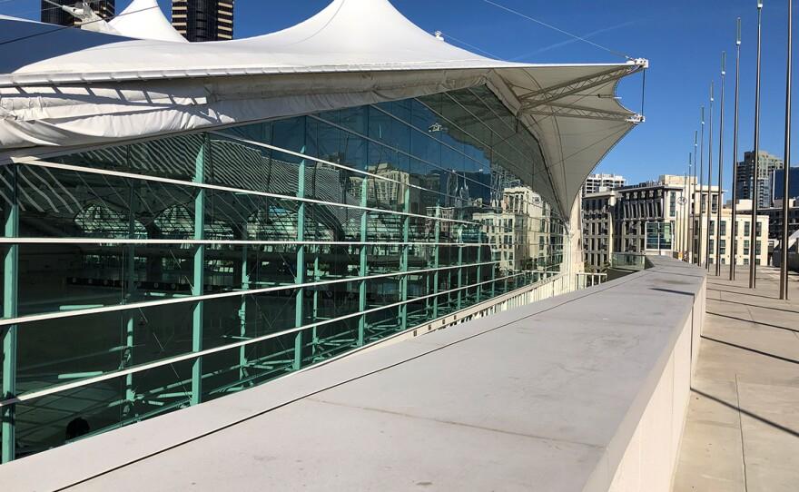 San Diego Convention Center upstairs exhibit space on Jan. 9, 2020.