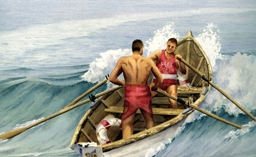 """The cover of """"HELP! San Diego Lifeguards to the Rescue, A History of Their Service, Volume 1: 1868-1941"""" is pictured."""