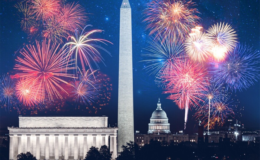 Fireworks over the U.S. Capitol. (undated photo)