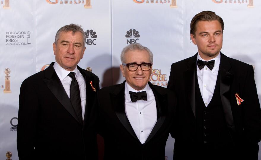 Robert DeNiro and Leonardo DiCaprio presented the Cecil B. DeMille Award to Martin Scorsese