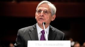 """Attorney General Merrick Garland testifies at a House Judiciary Committee hearing on """"Oversight of the United States Department of Justice"""" on Thursday."""