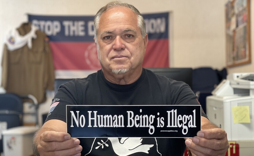 Immigrant advocate Robert Vivar is pictured in his office in Tijuana in July 2021.