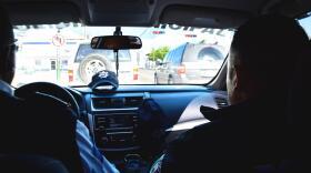 Hermosillo Transit Police Captain Luis Moreno (left) heads toward a traffic accident in Hermosillo on Jan. 22, 2020.