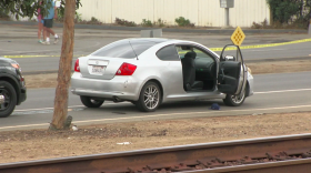 The vehicle the suspect was in, Oct. 24, 2016.