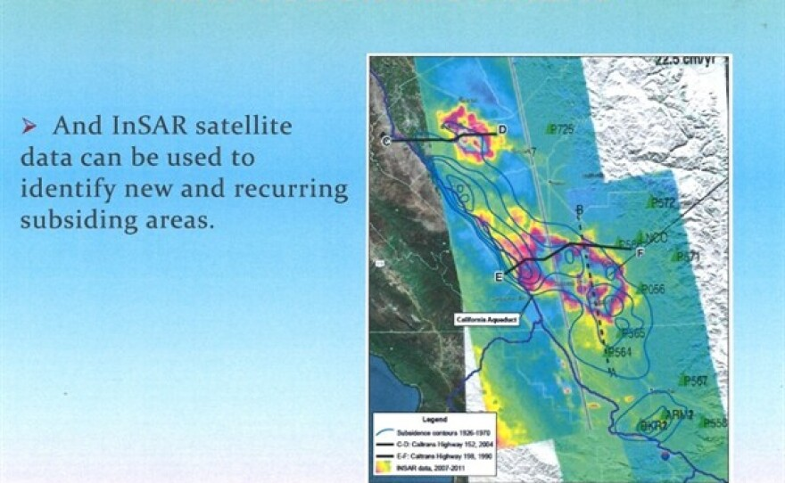 Satellite Map of Subsidence Area