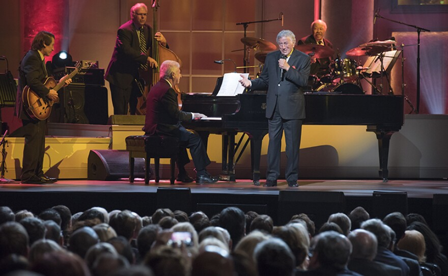 Honoree Tony Bennett performs at the Library of Congress Gershwin Prize for Popular Song. The special was taped on Nov. 15, 2017 at the Daughters of the American Revolution (DAR) Constitution Hall in Washington, D.C.
