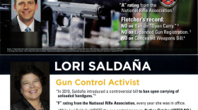 A mailer sent by the conservative Lincoln Club portrays county supervisor candidate Nathan Fletcher as a pro-gun conservative. Fletcher is a Democrat and supports gun control.