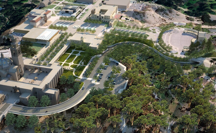 An aerial view of the proposed Plaza de Panama project slated to begin this year and be completed by the 2015 Centennial of Balboa Park.