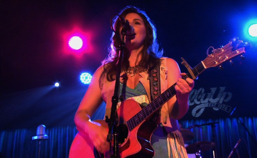 Sara Petite performs live at the Belly Up Tavern.