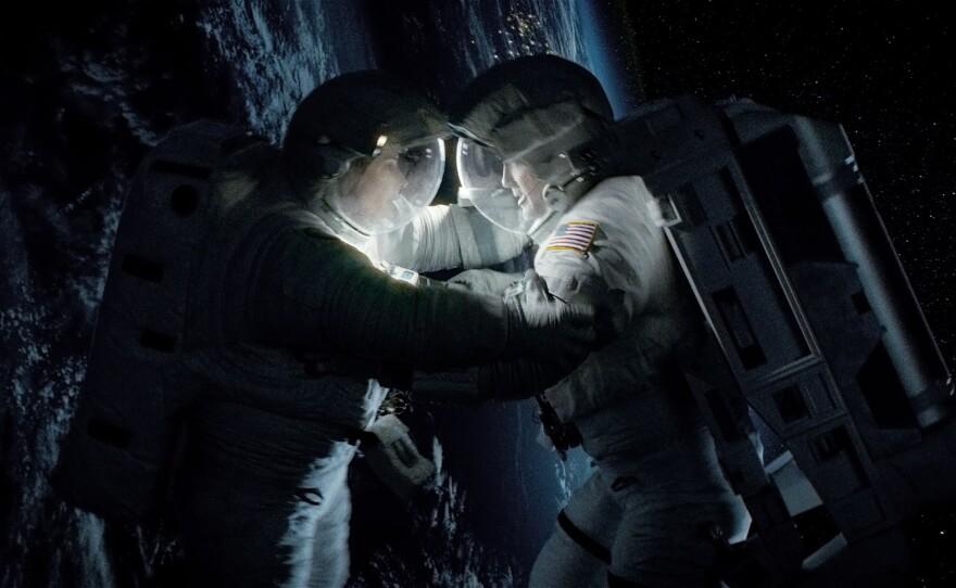 "George Clooney and Sandra Bullock star in ""Gravity."""