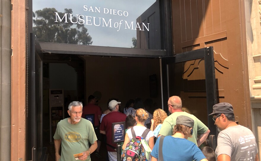 San Diego Museum of Man's main entrance in Balboa Park, July 27, 2018.
