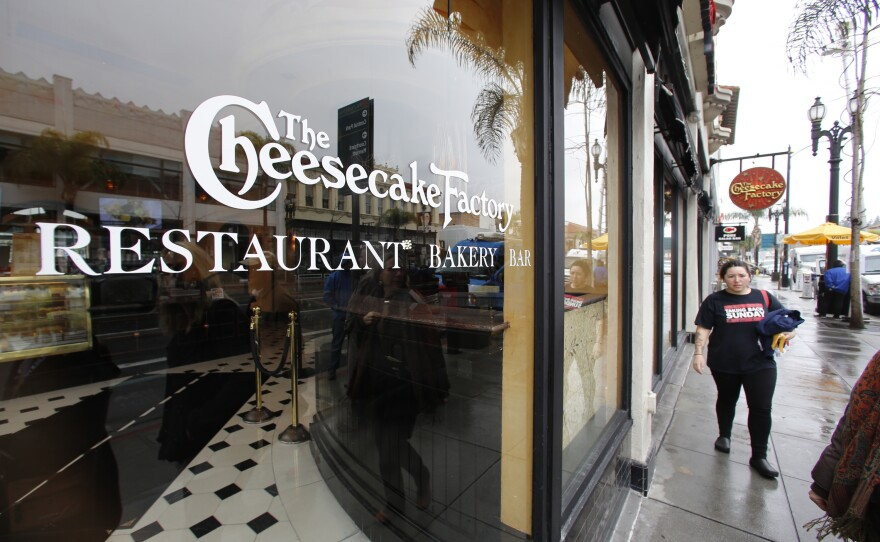 The Cheesecake Factory restaurant is seen in Old Pasadena Friday, Feb. 3, 2017.