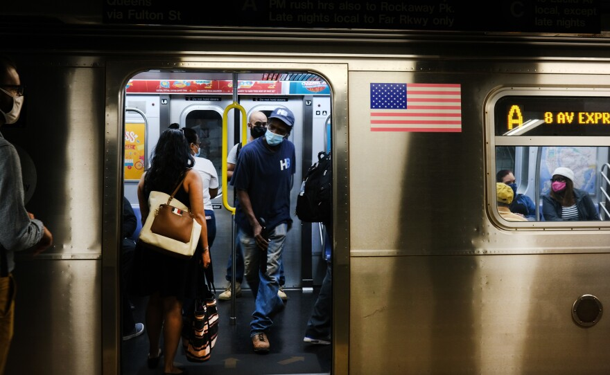 New York City public transit passengers who refuse to wear masks will be fined $50 starting Sept. 14.