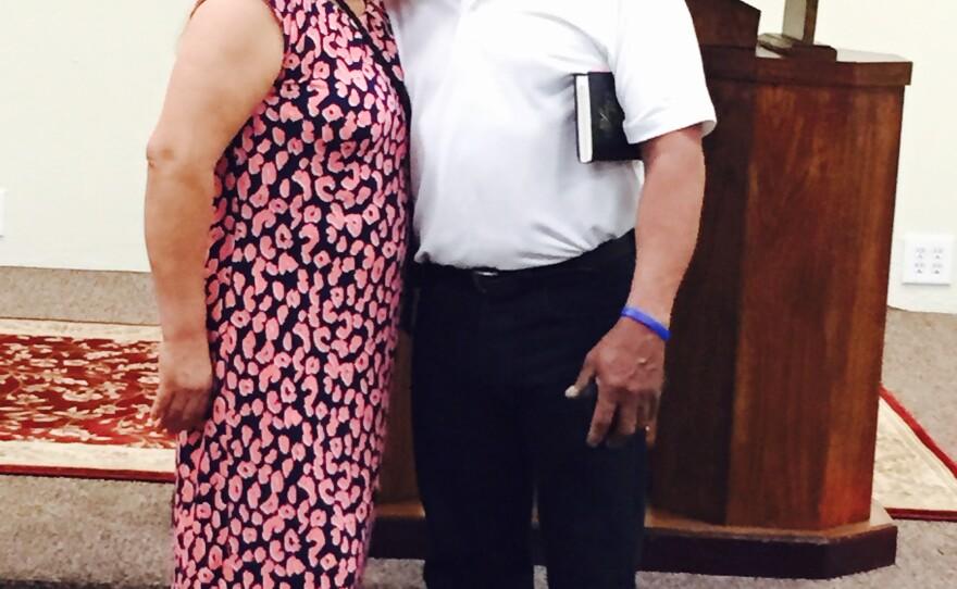 This undated photo shows Maria De Los Angeles with her husband, Angelico Maldonado.