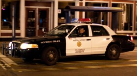 A San Diego police car out on patrol.