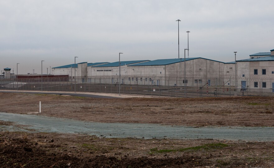 Buildings at the Richard J. Donovan state prison in Otay Mesa are shown on Dec. 21, 2018.