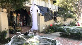 For the last four years, this home near 6th Street and Margarita Avenue in Coronado has been turned into a haunted house, Oct. 25, 2017.