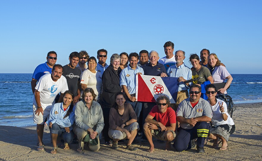 Team at the expedition in Cabo Pulmo National Marine Park, east coast of Mexico's Baja California Peninsula.