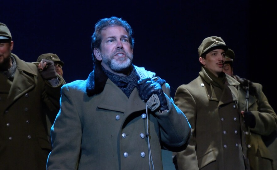 """Walter DuMelle of Bodhi Tree Concerts sings one of the key roles in """"All Is Calm,"""" a choral opera about the famous Christmas Truce of 1914"""
