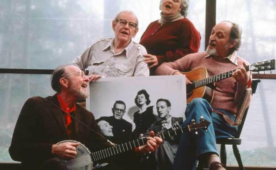 Pete Seeger, Lee Hays, Ronnie Gilbert and Fred Hellerman of The Weavers