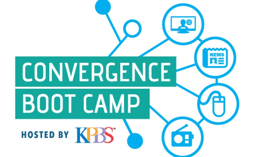 Above: Logo for KPBS Convergence Boot Camp.  The 2-day meeting takes place in February at KPBS, San Diego.