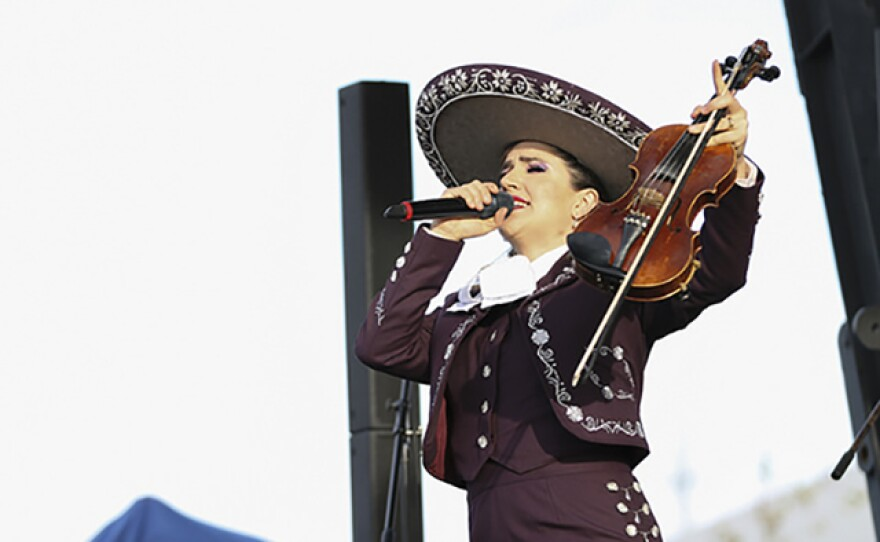 This 2016 photo features a performer from the Mariachi Festival in National City.