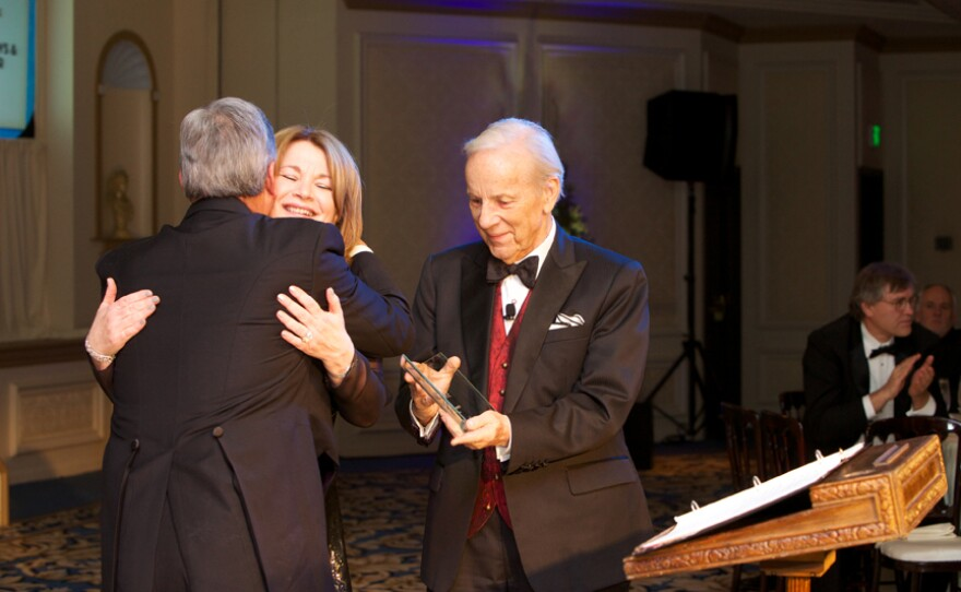 Conrad Prebys and Debbie Turner were honored as Visionaries in the KPBS Hall of Fame for the support of MASTERPIECE.   Mrs. Audrey S. Geisel was also honored as a Visionary for her longtime support of KPBS' outreach and literacy programs.  The late Brad Warner, former program manager, was posthumously inducted with a Lifetime Achievement Award.