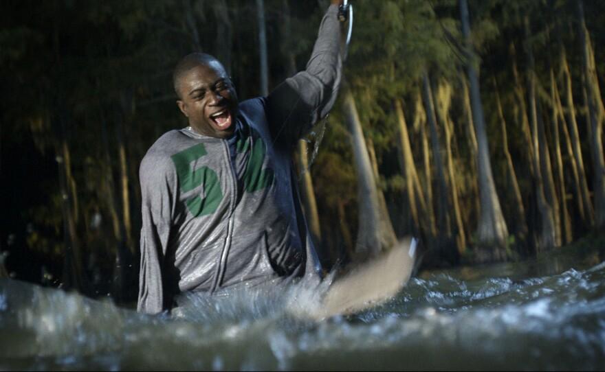 """Sinqua Walls as the film's token black in """"Shark Night 3D."""""""