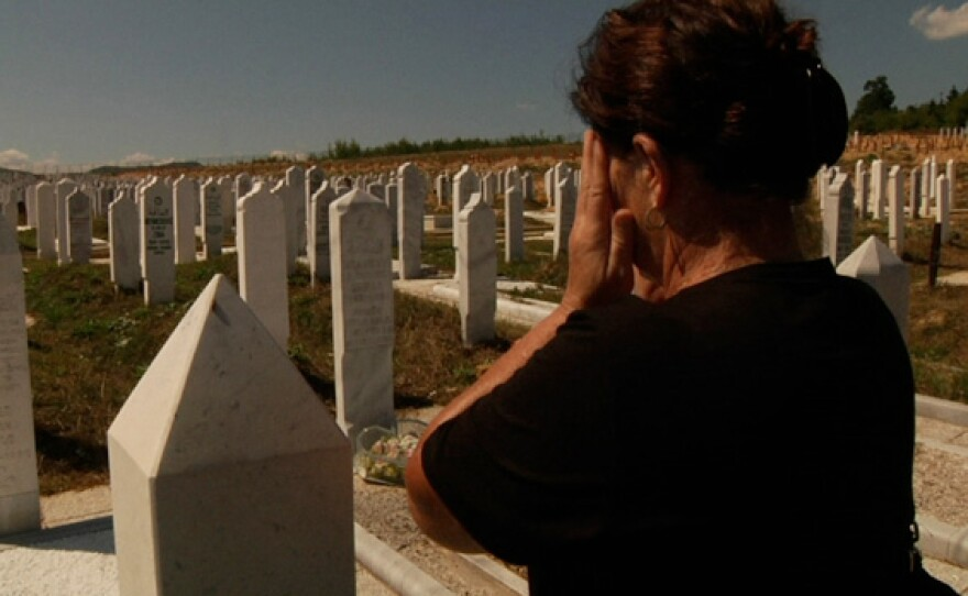 """""""Witness 99"""" visits the gravesite of her sons and husband in """"I Came To Testify."""""""