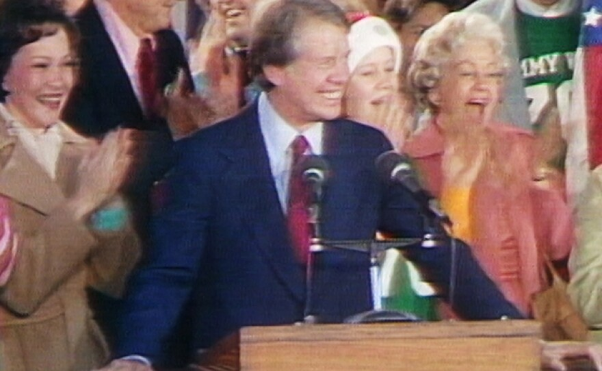 Jimmy Carter wins presidency of the United States of America, 1977.