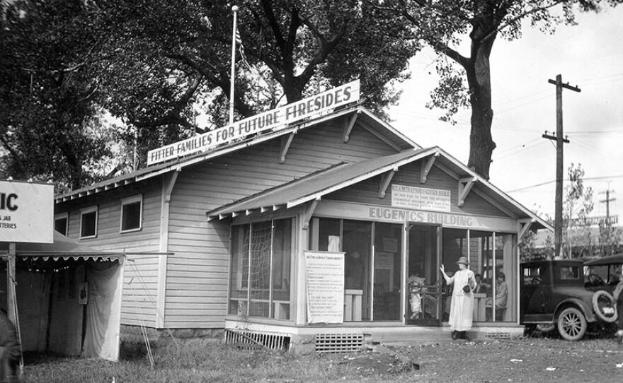 Examination building, Fitter Families Contest, Kansas Free Fair, 1925.