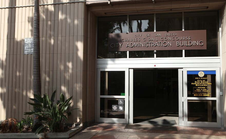 San Diego City Hall administration building.