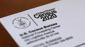This photo shows an envelope containing a 2020 census letter mailed to a U.S. resident in Detroit, April 5, 2020.
