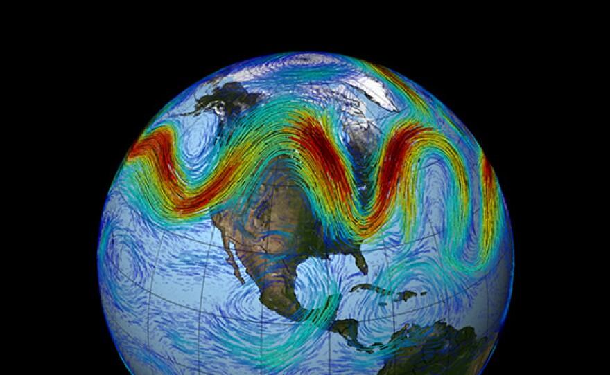 NASA simulation of the polar jet stream.