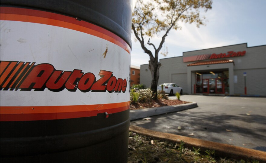 In this Monday, March 1, 2010 photo, an AutoZone auto parts store is shown in Miami.