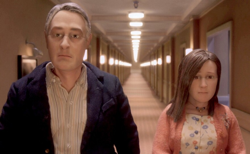 """Michael (voiced by David Thewlis) thinks he has found something extraordinary in Lisa (voiced by Jennifer Jason Leigh) in the Oscar-nominated """"Anomalisa."""""""