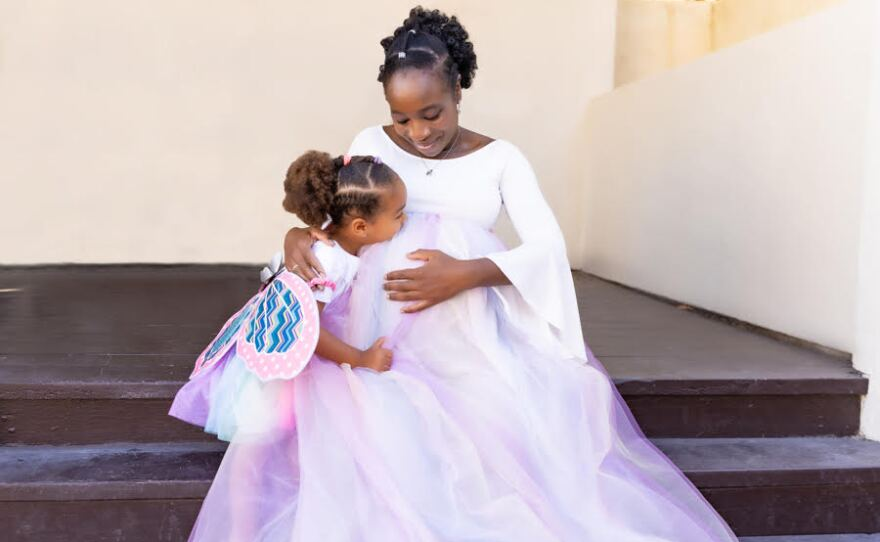 Dr. Toluwalase Ajayi is pictured with her daughter in this undated photo.