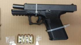 A Glock 23 handgun seized by Mexican authorities is pictured in this undated photo.