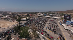 Commuters wait in line at the San Ysidro Port of Entry en route to the U.S. in Tijuana, Aug. 14, 2017.